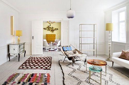 alfombras boucherouite - 3 alfombras en salon