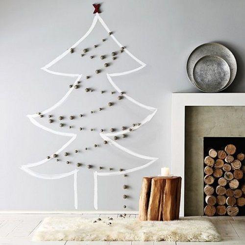 arbol navidad pintado- planosdecasas