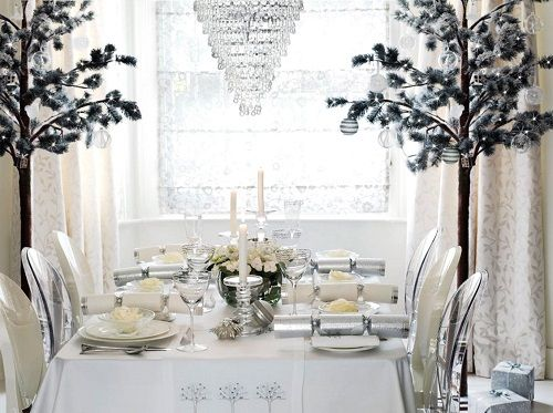christmas table white