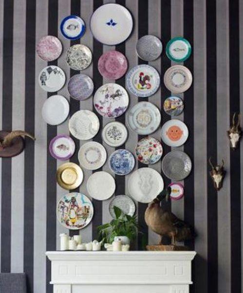 pared platos ceramica