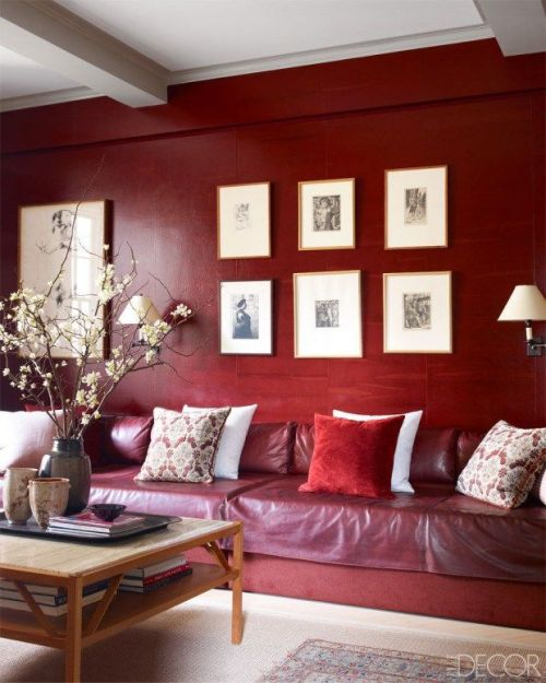 habitacion decoracion pintura marsala pantone