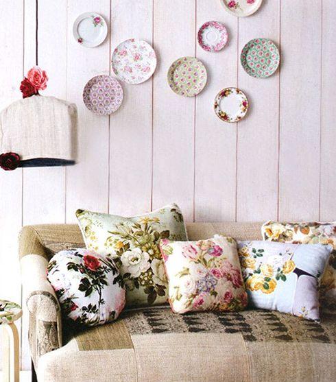 decoracion vintage ideas platos paredes