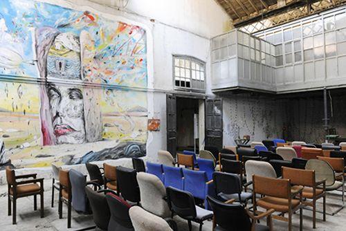 interior sala conferencias la neomudejar centro arte vanguardia madrid atocha