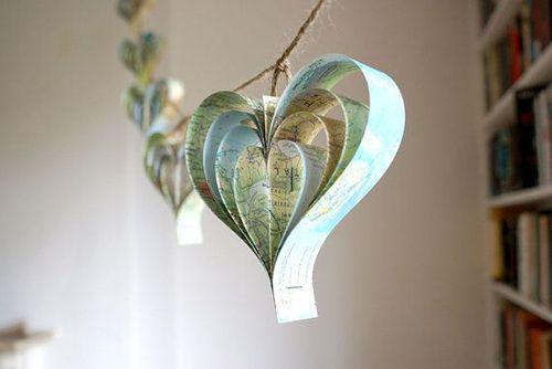 mapas corazones decoracion tecnicas diy