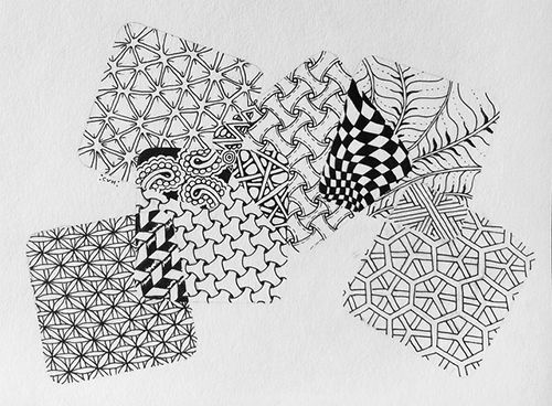 patrones zentangle creatividad meditacion
