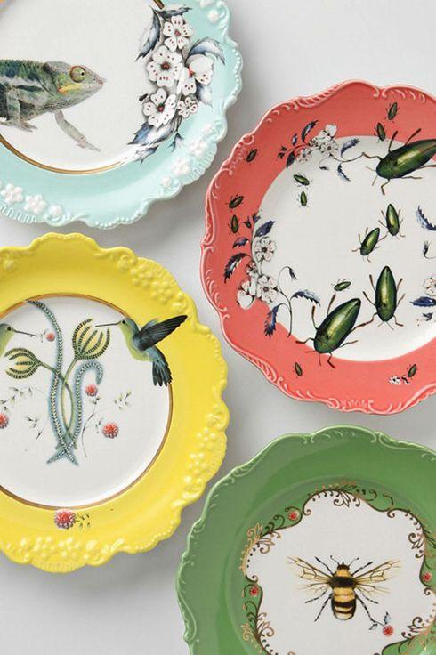 platos decorativos anthropologie ideas decoracion paredes ceramica