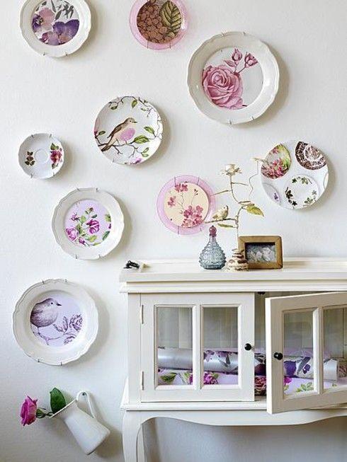 platos vintage ceramica ideas decoracion paredes interior