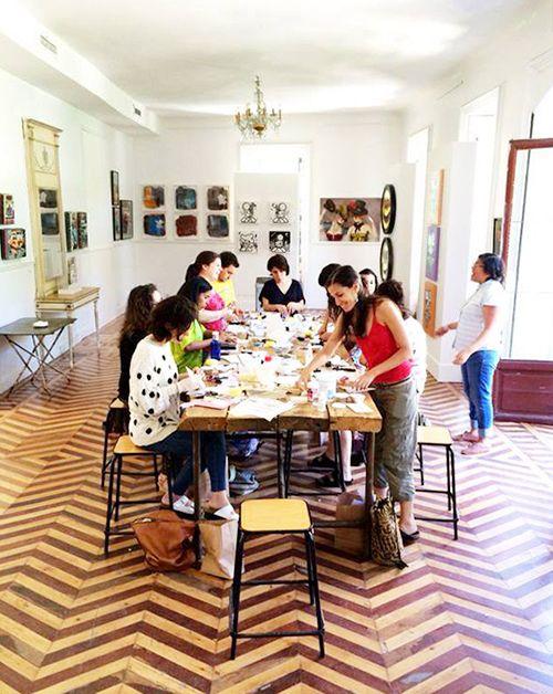 taller diy artesania fabrica de texturas manzana mahou