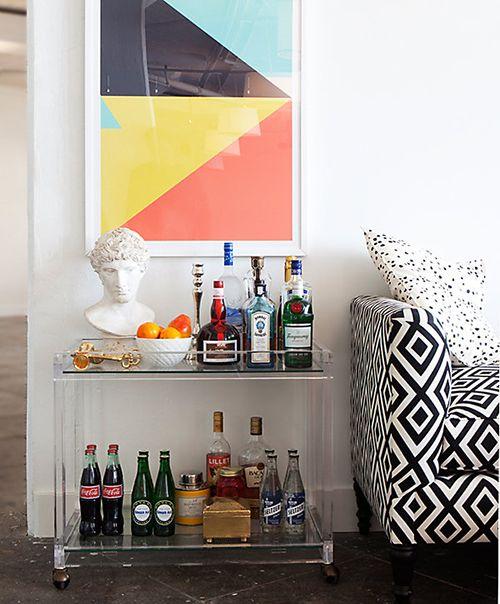 camarera mueble bar carrito auxiliar portatil ideas almacenaje hogar