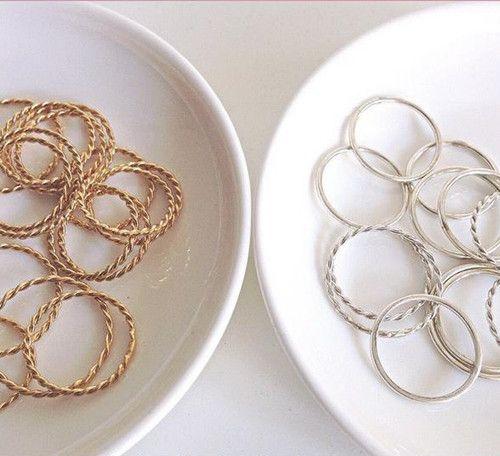 creme jewels anillos plato