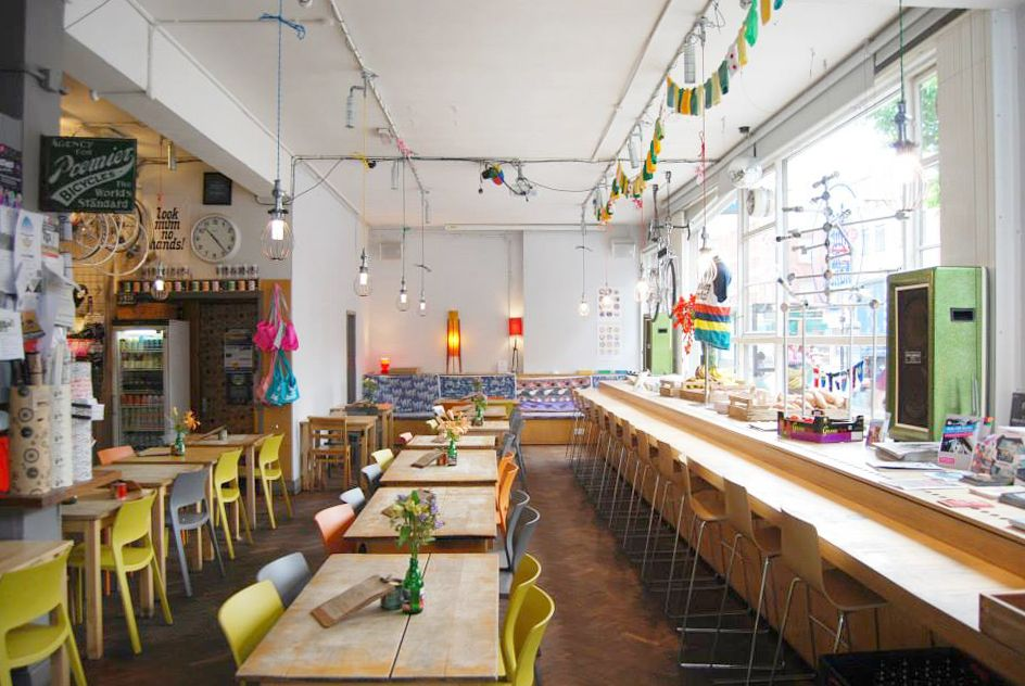 Look Mum No Hands, un cycling café en Londres