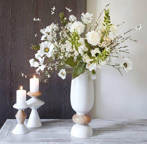 jarron velas flores decoracion nordica sia