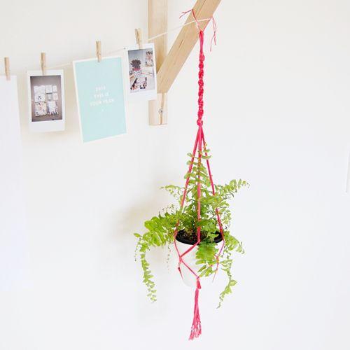 portamacetas macrame tendencia decoracion bohemia plantas
