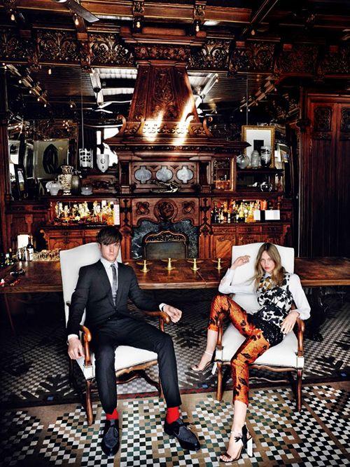 Reportaje de Mario Testino para US Vogue en la casa de Lázaro Rosa-Violán