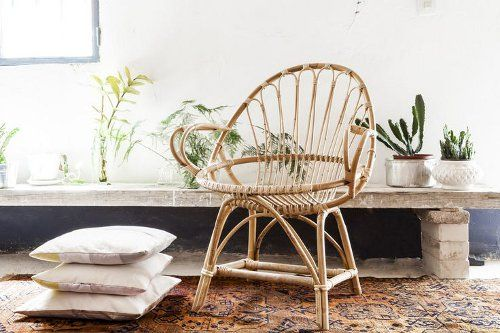 silla bambu tendencia decoracion interiores