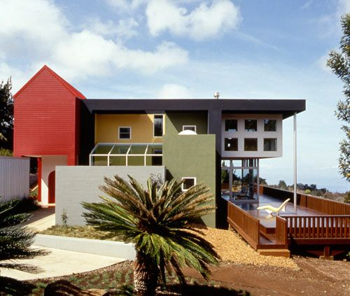 diseño modular casa colores