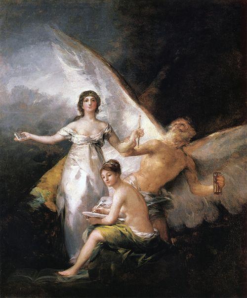 la verdad el tiempo y la historia francisco de goya cuadro arte museo nacional de estocolmo suecia