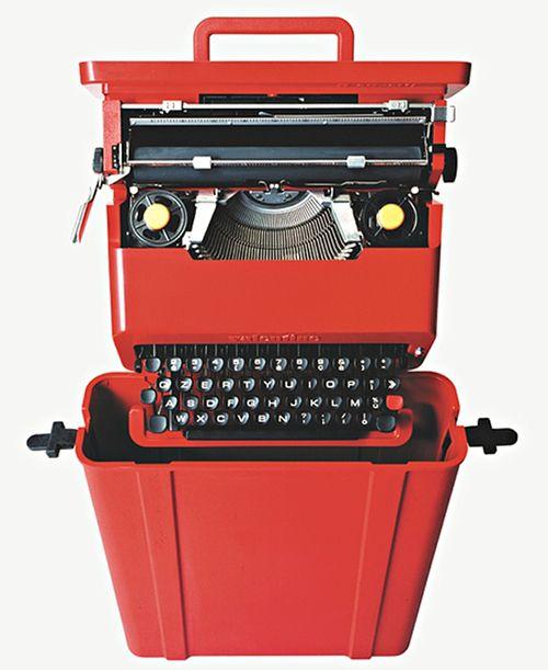 marquina escribir roja