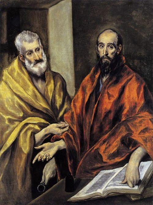 san pedro san pablo apostoles cuadro el greco arte museo nacional de estocolmo suecia