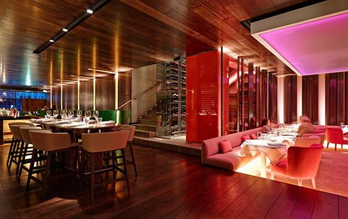 espacios interior restaurante the hall madrid