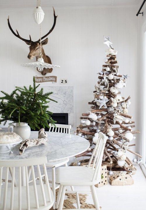 arbol navidad madera estilo nordico
