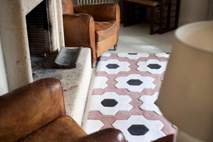 detalle alfombra rosa kilombo rugs 100% personalizables