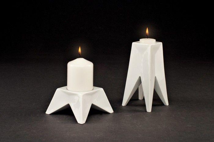 luis ramirez dekuba sargadelos diseno cubano candelabro geometrico blanco porcelana