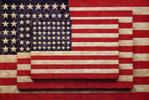 three flags obra jasper jhons bandera americana pop art