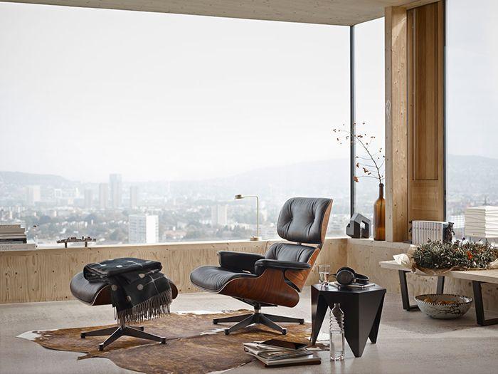 Sillón Lounge chair & Ottoman vitra charles ray eames lounge chair silla sillón otomano de madera cuero negro ventana