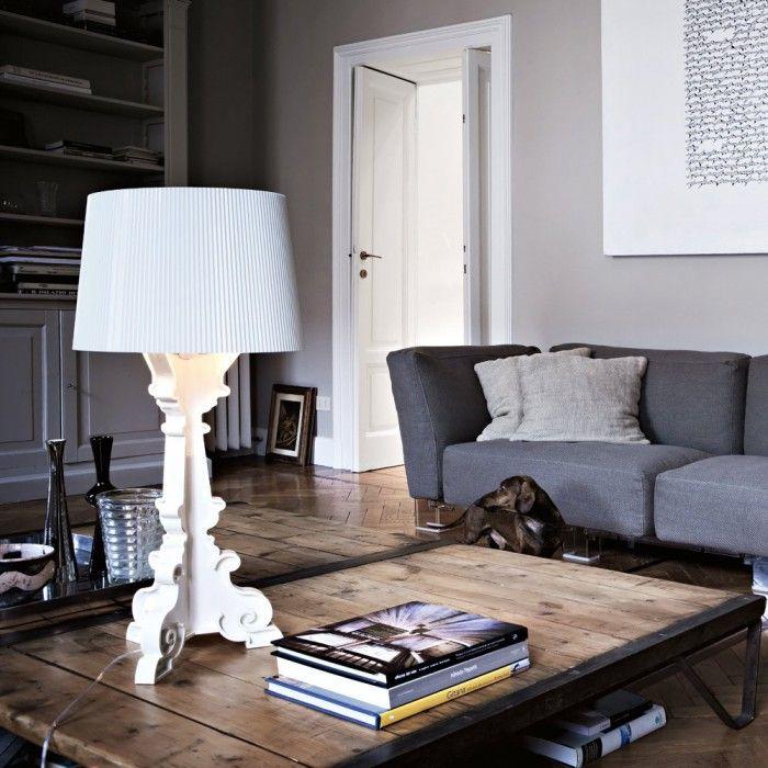 lampara bourgie ferruccio laviani kartell plastico blanco barroca moderna