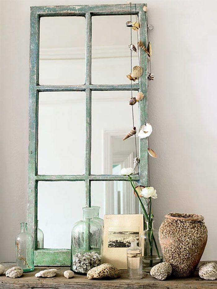 ventana reutilizada espejo