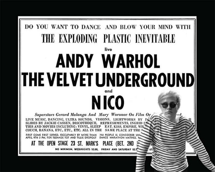 cartel andy warhol the velvet underground and nico fotografia the exploding plastic inevitable