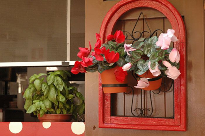 macetero flores