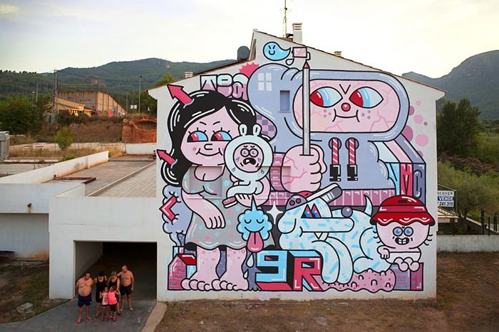 Pueblos con mucho arte, street art rural en España