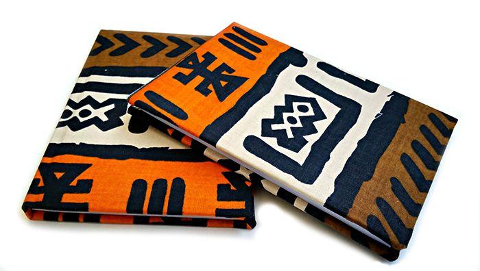 cuadernos libretas mud cloth
