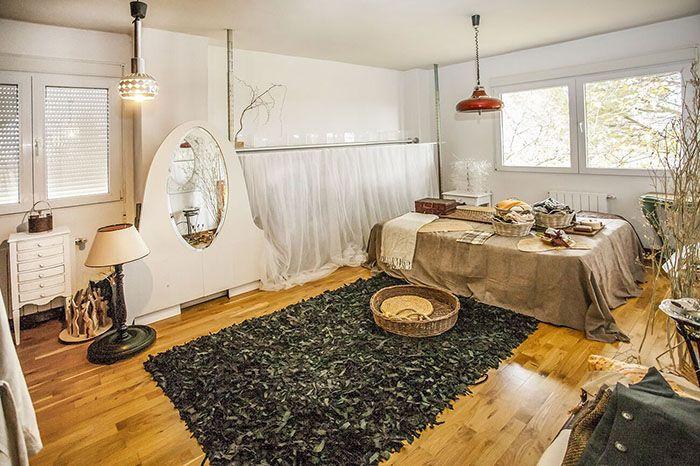 dormitorio con caracter y muy acogedor en piso de lujo en madrid