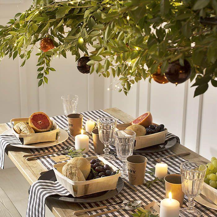 mesa campestre intima de navidad