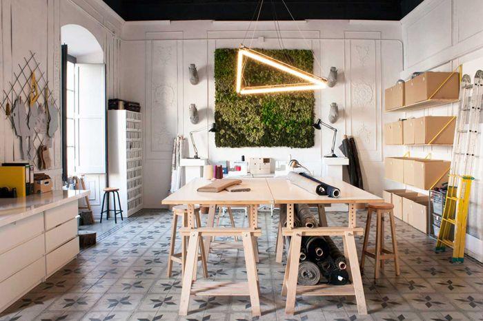 Decoración de cinco espacios de trabajo de profesionales freelance y millenials