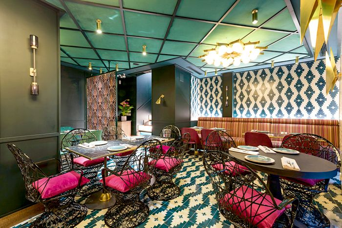 detalle interiorismo restaurante hindu madrid
