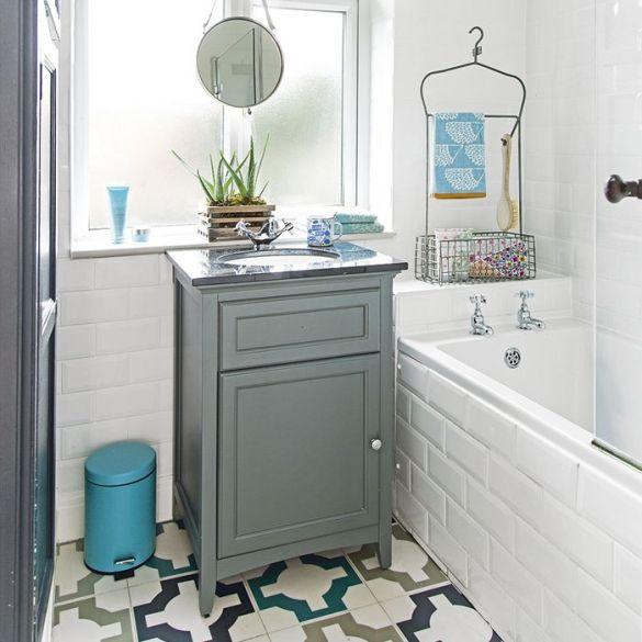 mueble vintage para lavabo