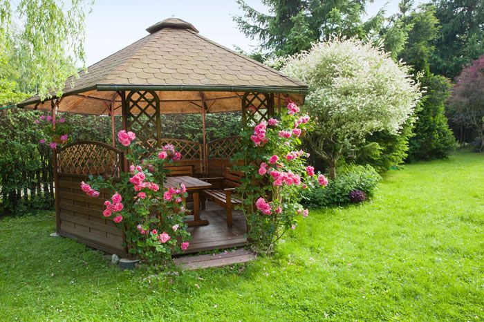 casa para cenar en jardin