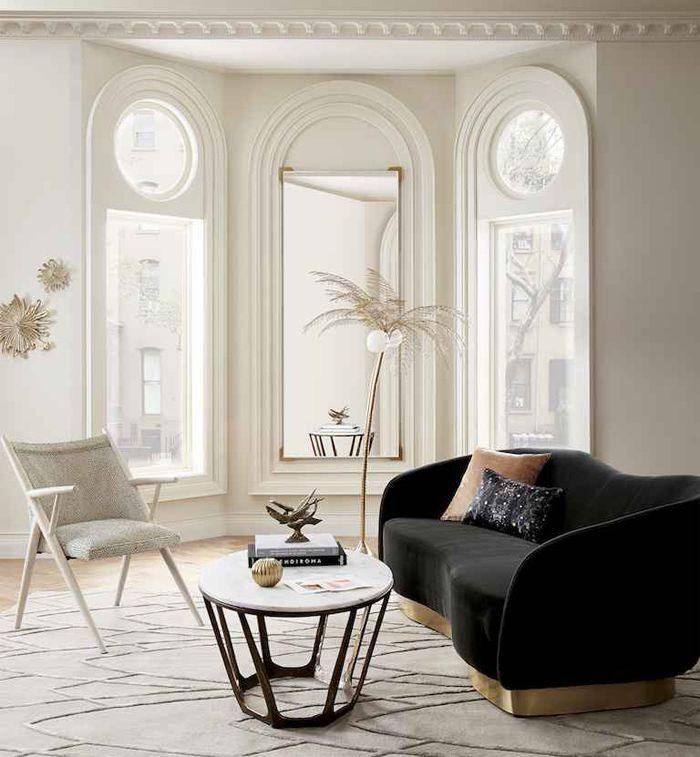 sofa terciopelo gris CB2