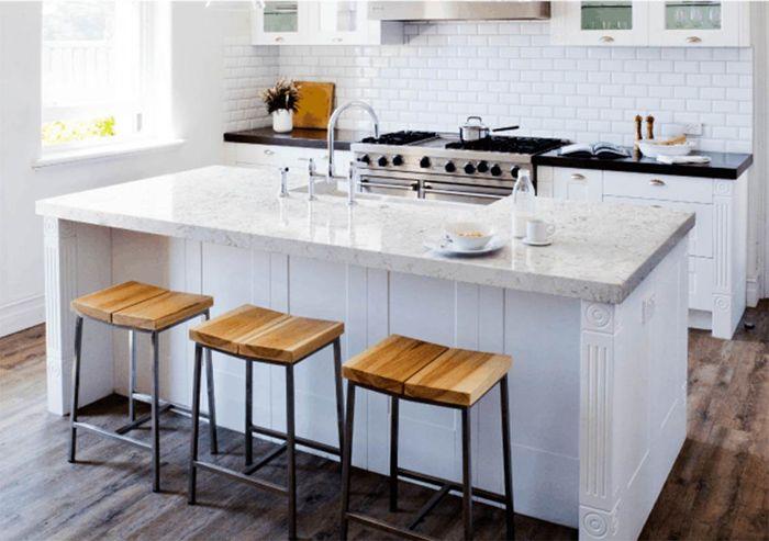 cocina encimera marmol