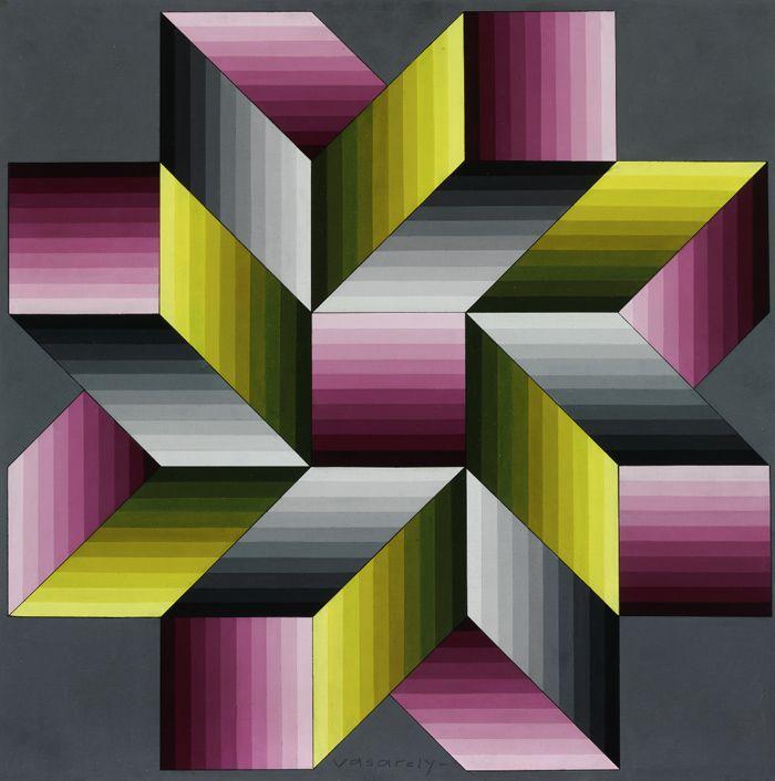 Victor Vasarely obra op art