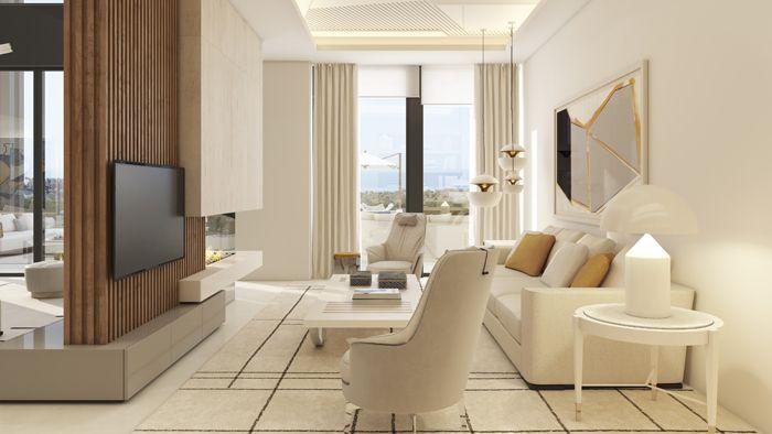 sala television vivienda lujosa en Marbella