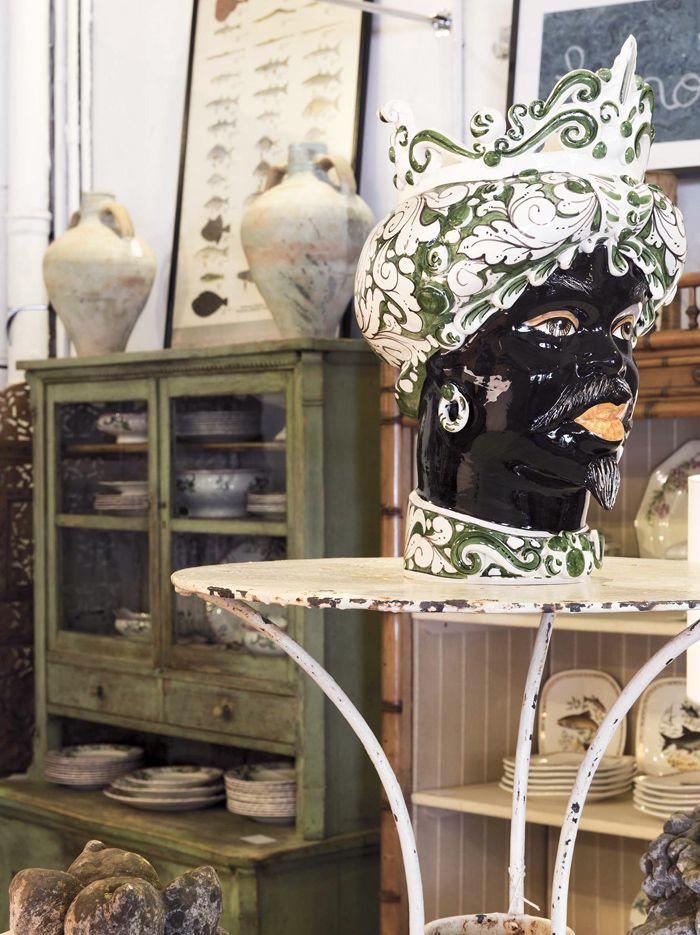 aparador retro vintage verde
