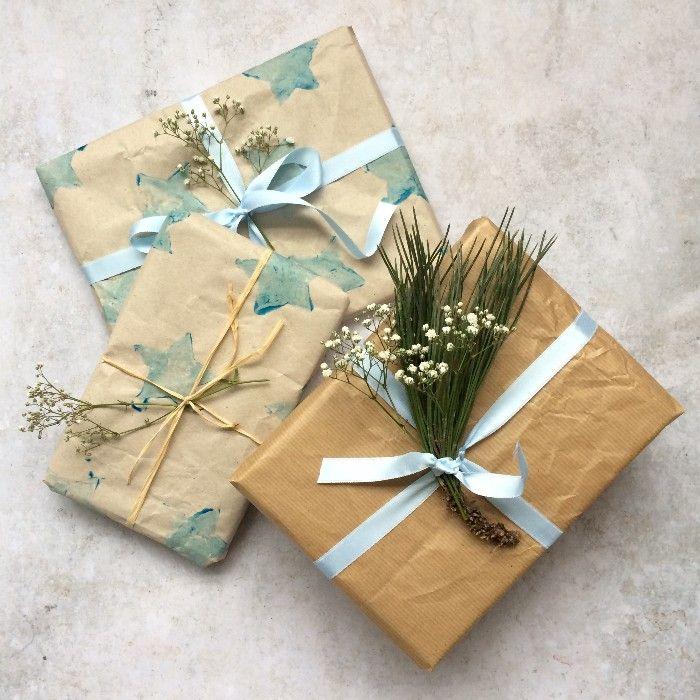 paquetes con papel reciclado