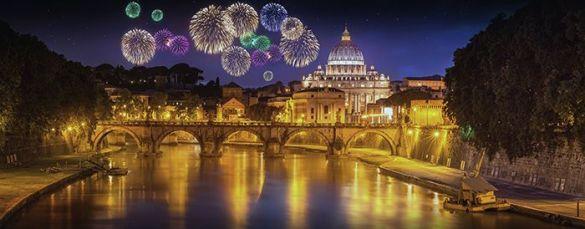 fuegos artificiales Año nuevo Roma