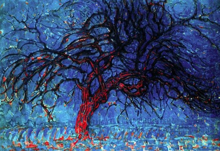 Árbol rojo mondrian