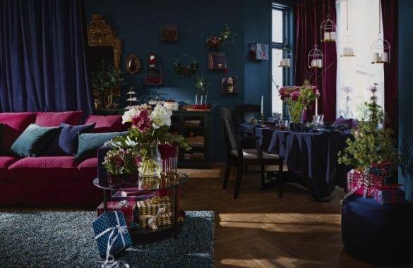 salon comedor decoracion navidad ikea